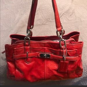 Coach Gloss Persimmon Red purse